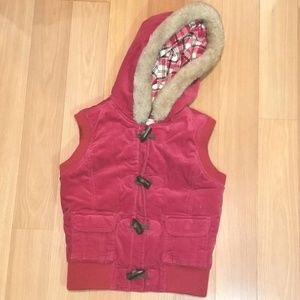 OLD NAVY Fur Trim Hooded Vest